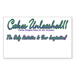 Cakes Unleashed!! Rectangle Decal