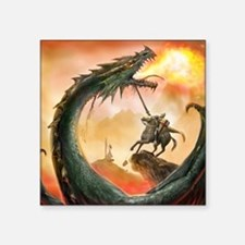"saint george and the dragon Square Sticker 3"" x 3"""