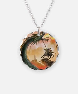 saint george and the dragon Necklace