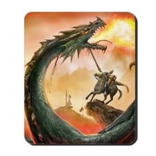 saint george and the dragon Mousepad