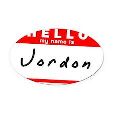 Jordon Oval Car Magnet