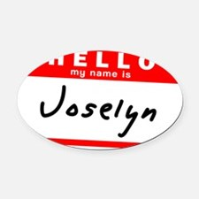 Joselyn Oval Car Magnet