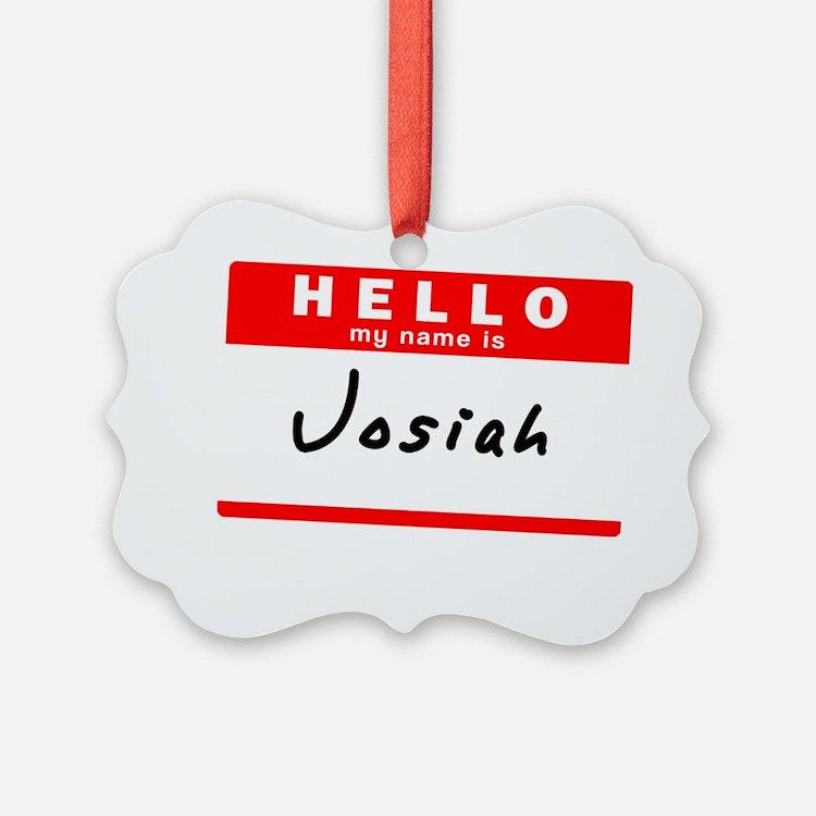 Josiah Ornament