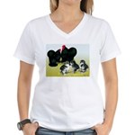 Black Cochin Family Women's V-Neck T-Shirt