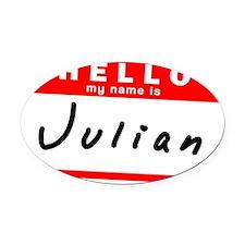 Julian Oval Car Magnet