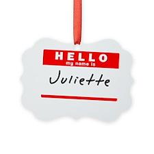 Juliette Ornament