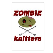 zombie knitter Postcards (Package of 8)