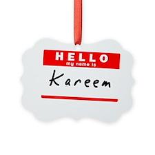 Kareem Ornament