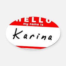 Karina Oval Car Magnet