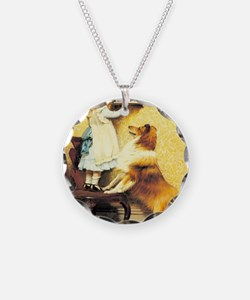 Girl and Dog Necklace