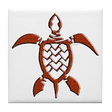Tribal Sea Turtles Tile Coaster
