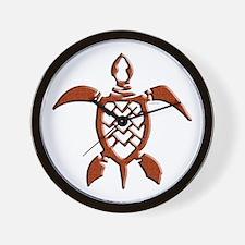 Tribal Sea Turtles Wall Clock