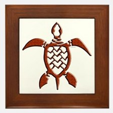 Tribal Sea Turtles Framed Tile