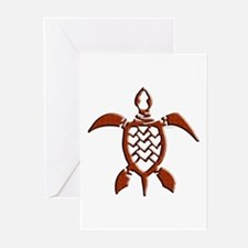 Tribal Sea Turtles Greeting Cards (Pk of 10)
