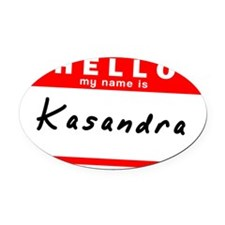 Kasandra Oval Car Magnet