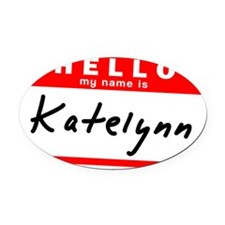Katelynn Oval Car Magnet