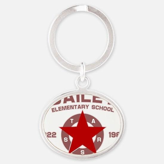 BaileySchool Oval Keychain
