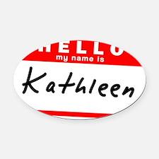 Kathleen Oval Car Magnet