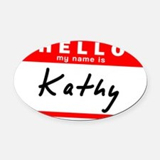 Kathy Oval Car Magnet