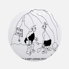 6127_real_estate_cartoon Round Ornament