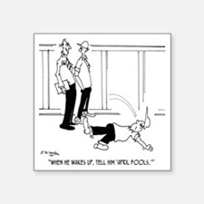 "6152_inspector_cartoon Square Sticker 3"" x 3"""