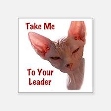 """Nikita Take me to your lead Square Sticker 3"""" x 3"""""""
