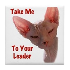 Nikita Take me to your leader Cut out Tile Coaster
