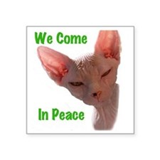 "Nikita We come in peace Cut Square Sticker 3"" x 3"""
