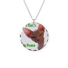 Nikita We come in peace Cut  Necklace Circle Charm