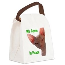 Nikita We come in peace Cut out 2 Canvas Lunch Bag