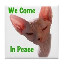 Nikita We come in peace Cut out 2 Tile Coaster