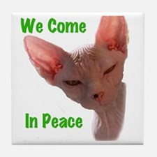Nikita We come in peace Cut out 2 Tile Coaster