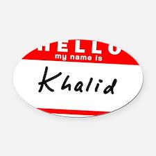 Khalid Oval Car Magnet
