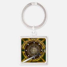 TILE-COASTER-WARRIOR Square Keychain