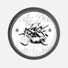 butts to nuts dark copy Wall Clock