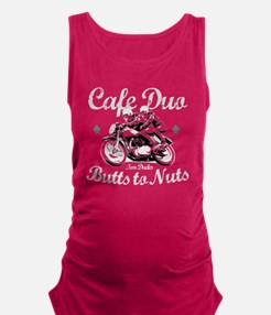 butts to nuts dark copy Maternity Tank Top