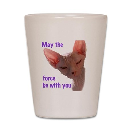 Nikita May the force be with you Shot Glass