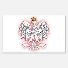 Polish White Eagle 2 Rectangle Decal