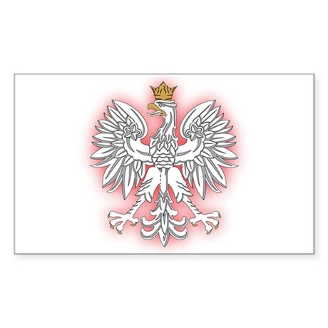 Polish White Eagle 2 Rectangle Sticker