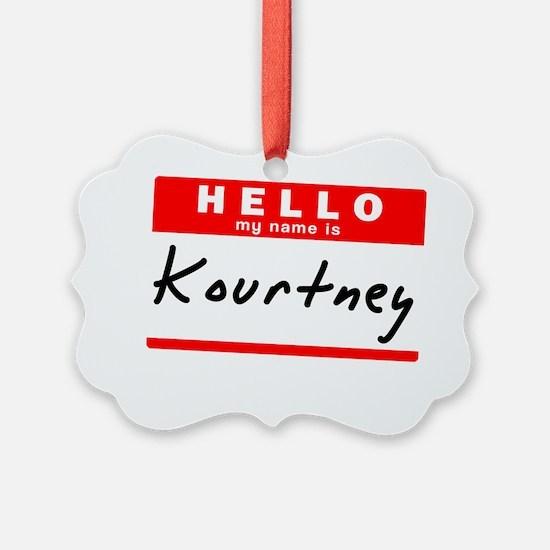 Kourtney Ornament