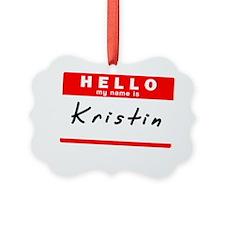 Kristin Ornament