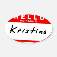 Kristina Oval Car Magnet