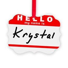 Krystal Ornament