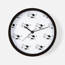 moocowshowercurtain Wall Clock
