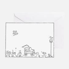 Baby Carriage Greeting Cards (Pk of 10)