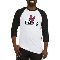 I Love Fishing Baseball Jersey