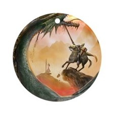 saint george007forframe Round Ornament