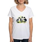 Swedish Duck Ducklings Women's V-Neck T-Shirt