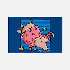 Sleepytime piggies Rectangle Magnet