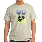 Plymouth Rock Rooster, Hen & Light T-Shirt